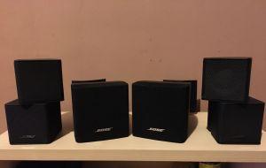 2 Sateliți BOSE Premium JEWEL și 2 Cube + 2Suporți de perete BOSE UB20