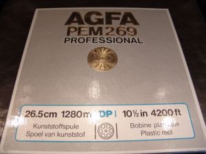 AGFA/BASF= banda/reel tape=AGFA/BASF=TOP metallic reel!!
