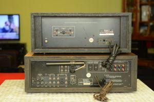 Amplituner kenwood kr6030+deck kx830
