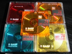 BASF color, minidisc