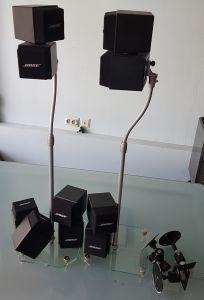 Bose AM 5 boxe satelit dublii cub cu stativi si suporturi perete