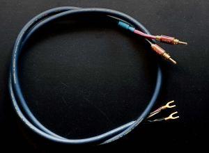 Cablu Boxe AudioQuest Indigo+ Hyperlitz cupru solid FPC/LGC, pereche, 1.5 metri, made in USA