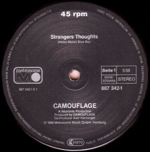 """Camouflage – Strangers Thoughts, 12"""", 45 RPM, Maxi-Single"""