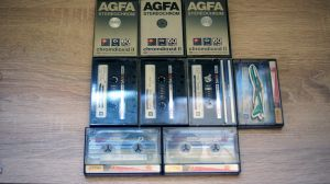 Casete audio 9buc. x TDK D90 & TDK SA 60& AGFA Stereochrom