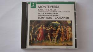 CD album clasica Monteverdi-Balli e Balletti