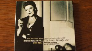 CD album Marianne Faithfull – The Seven Deadly Sins/RCA Victor 1998