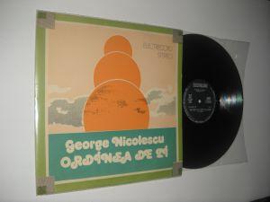 George Nicolescu (primul lui LP): Ordinea De Zi (1984) vinil stare excelenta/Ex