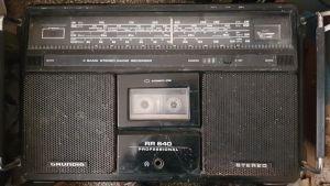Grundig RR 640 Professional, 4 band radio casette stereo RAR