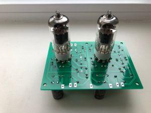 Kit preamp stereo pentru doza pick-up MM cu lampi
