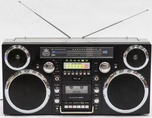 NOU » Radio - casetofon - boxă. Aspect Retro GPO Retro Brooklyn Negru