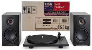 Pachet Hi-Fi Triangle boxe Elara LN01A + pick-up
