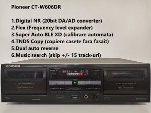 Pioneer CT-W606DR casetofon dublu deck, Digital NR, FLEX, BLE XD
