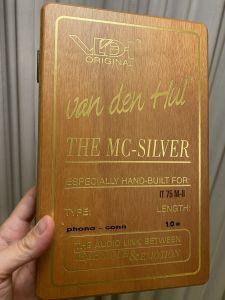 VAN DEN HUL MC SILVER - COAXIAL CAP DE SERIE 1m