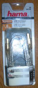 Vand cablu USB 2.0 Hama ,mufe aurite ,dublu ecranat, conductor cupru,f.bun pt conexiune la DAC